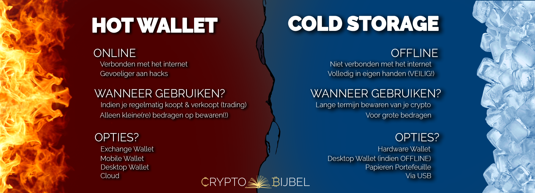 Hot Wallet vs Cold Storage Infographic