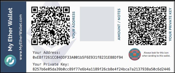 papieren portefeuille ethereum bewaren
