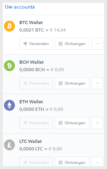 bitcoin ontvangen coinbase